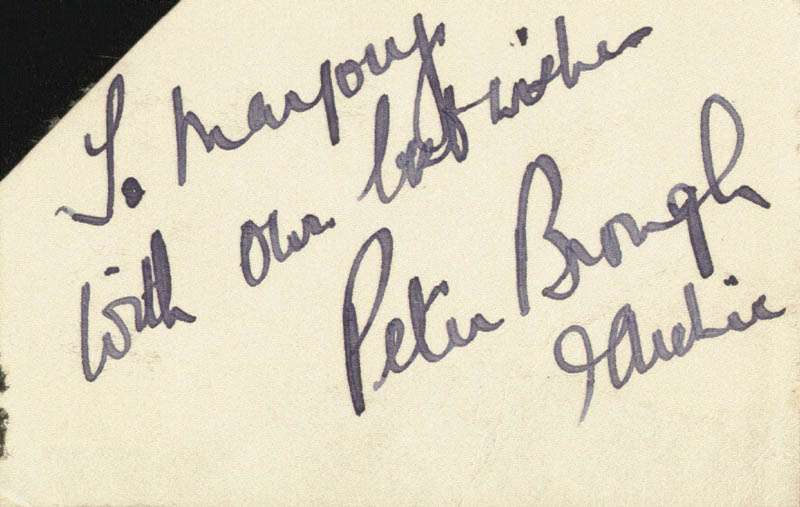 Image 1 for Peter Brough - Autograph Note Signed - HFSID 160954