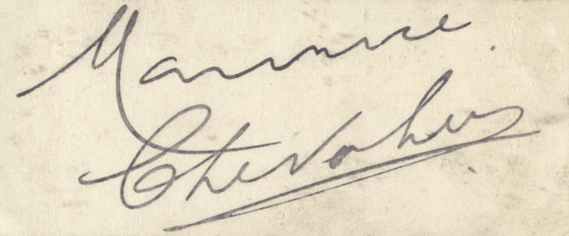 Image 1 for Maurice Chevalier - Autograph - HFSID 161030