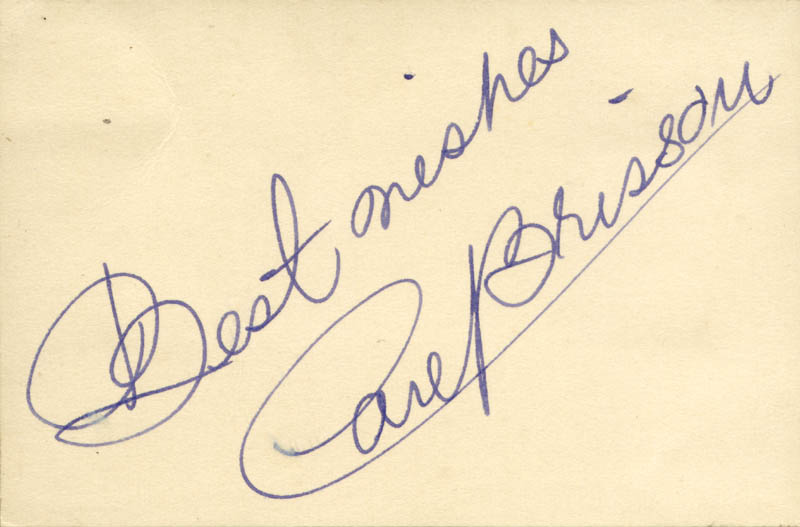 Image 1 for Carl Brisson - Autograph Sentiment Signed - HFSID 161073