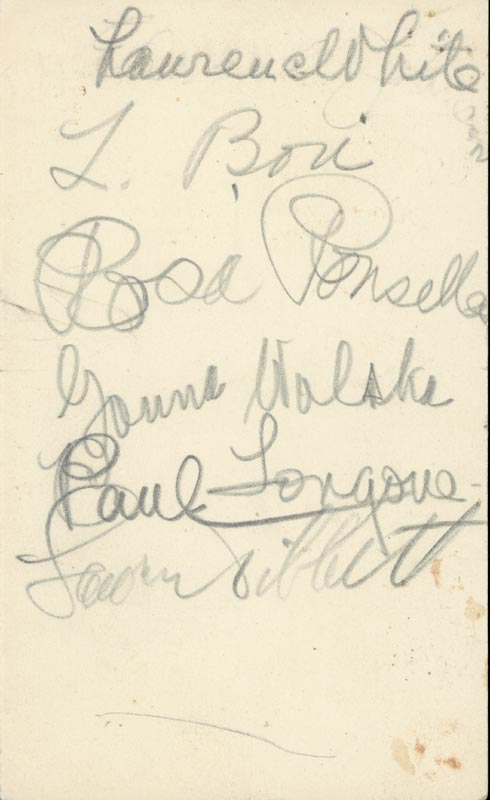 Image 1 for Lawrence Tibbett - Autograph with co-signers - HFSID 161139