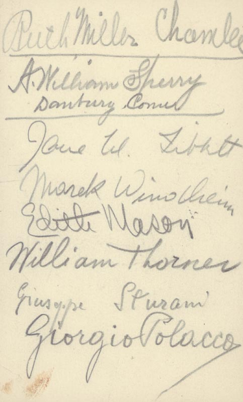 Image 3 for Lawrence Tibbett - Autograph with co-signers - HFSID 161139
