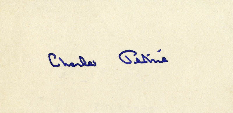 Image 1 for Charles Petrie - Autograph - HFSID 161215