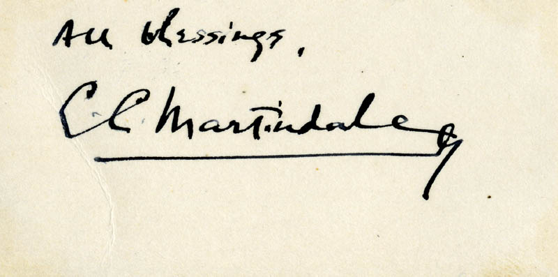 Image 1 for C. C. Martindale - Autograph Sentiment Signed - HFSID 161221