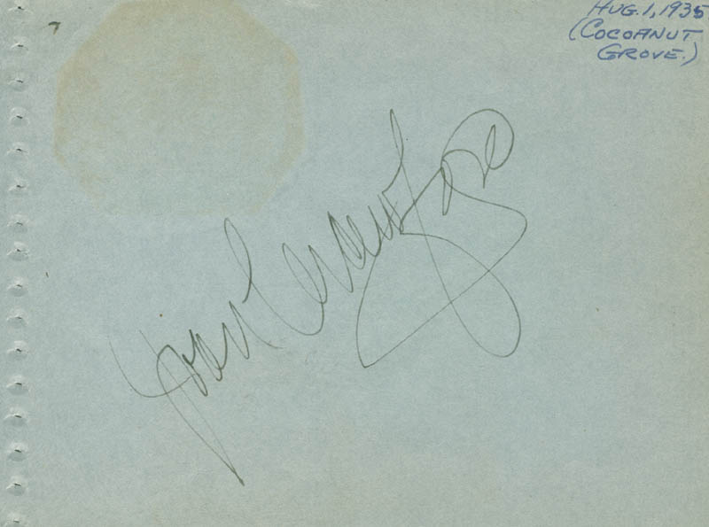 Image 3 for Jack Benny - Autograph Circa 1935 co-signed by: Mary (Mrs. Jack Benny) Livingstone, Joan Crawford - HFSID 161472