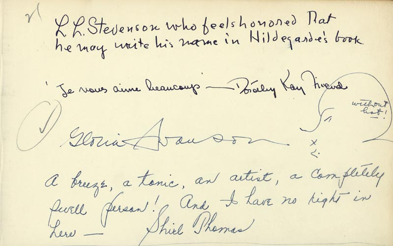 Image 1 for Gloria Swanson - Autograph 1943 with co-signers - HFSID 16242