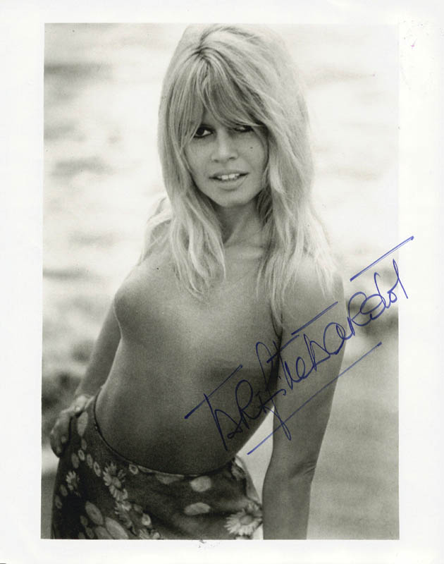 Image 1 for Brigitte Bardot - Autographed Signed Photograph - HFSID 1639