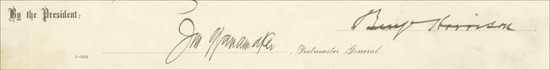 Image 1 for President Benjamin Harrison - Civil Appointment Signed 07/18/1889 - HFSID 16439
