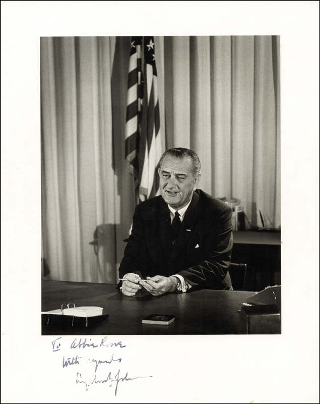 Image 1 for President Lyndon B. Johnson - Autographed Inscribed Photograph Circa 1964 - HFSID 164506