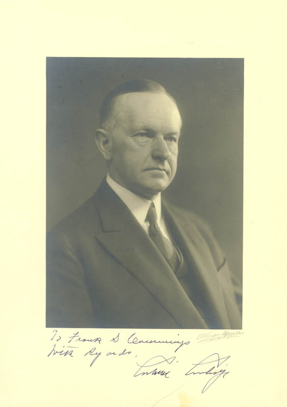 Image 1 for President Calvin Coolidge - Autographed Inscribed Photograph - HFSID 16460