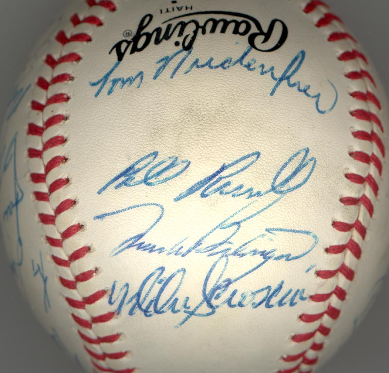 Image 1 for The Los Angeles Dodgers - Autographed Signed Baseball with co-signers - HFSID 164723