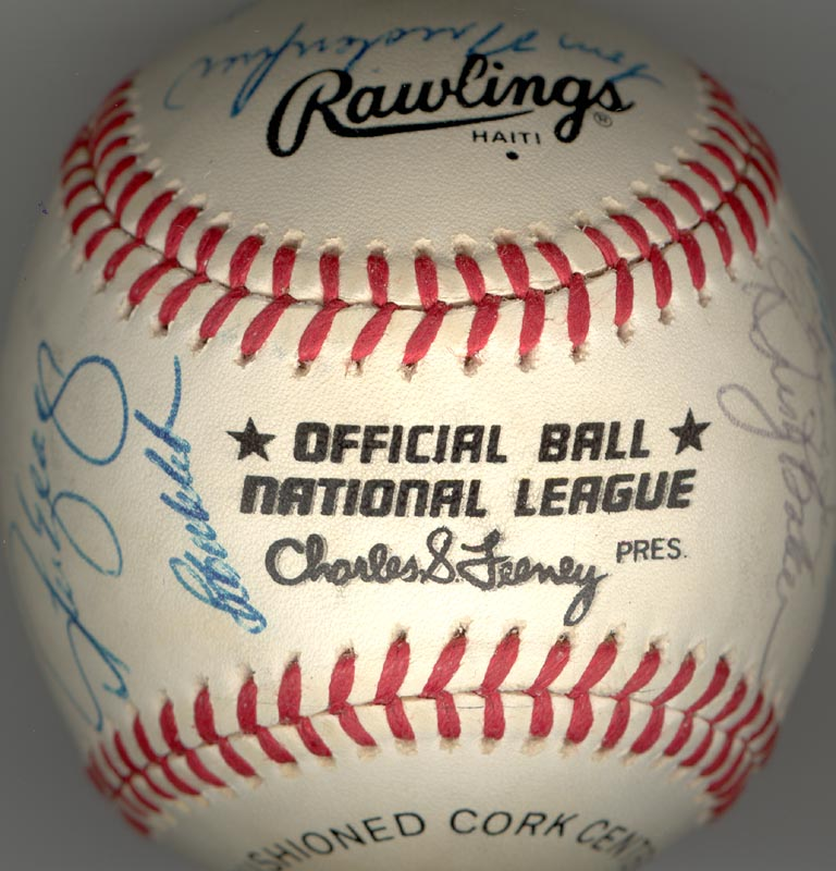 Image 6 for The Los Angeles Dodgers - Autographed Signed Baseball with co-signers - HFSID 164723