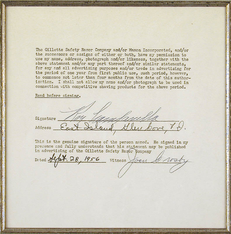 Image 3 for Roy 'Campy' Campanella - Document Signed 09/28/1956 - HFSID 165037