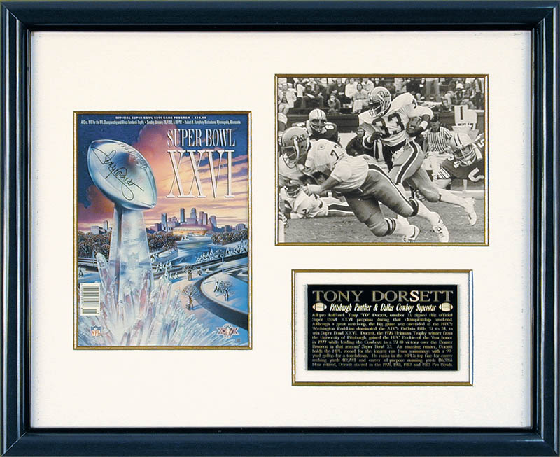 Image 1 for Tony Dorsett - Super Bowl Program Signed 01/26/1992 - HFSID 165041