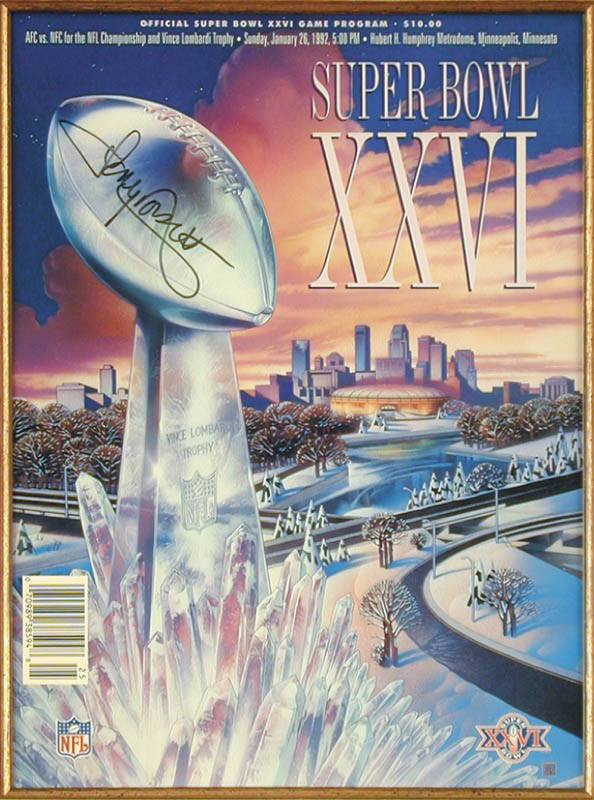 Image 3 for Tony Dorsett - Super Bowl Program Signed 01/26/1992 - HFSID 165041