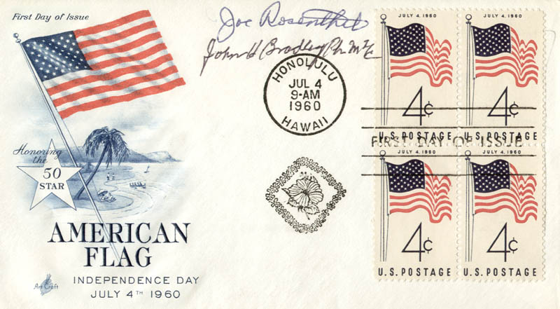 Image 1 for Joe Rosenthal - First Day Cover Signed co-signed by: Evonne Goolagong, John H. Bradley - HFSID 165057