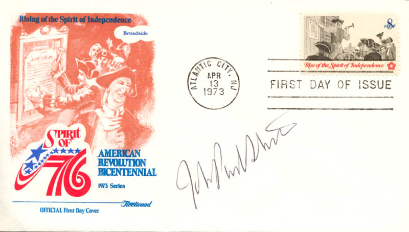 Image 1 for Associate Justice John Paul Stevens - First Day Cover Signed - HFSID 165065