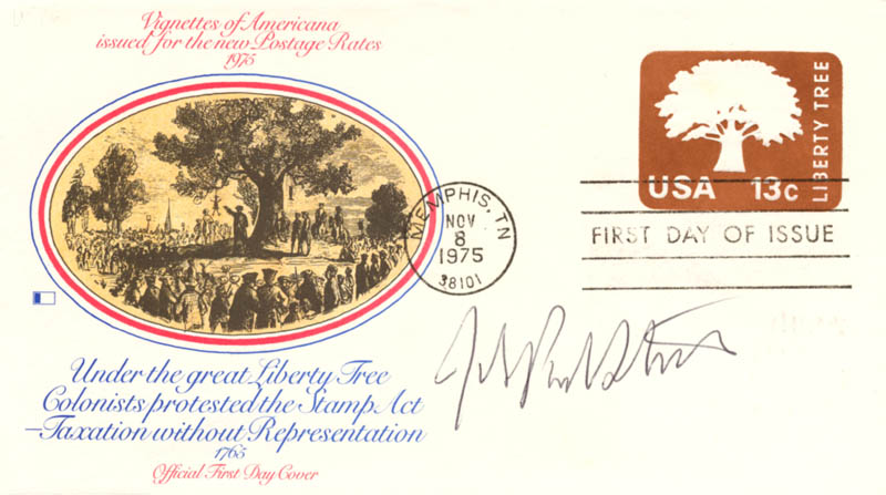 Image 1 for Associate Justice John Paul Stevens - First Day Cover Signed - HFSID 165067