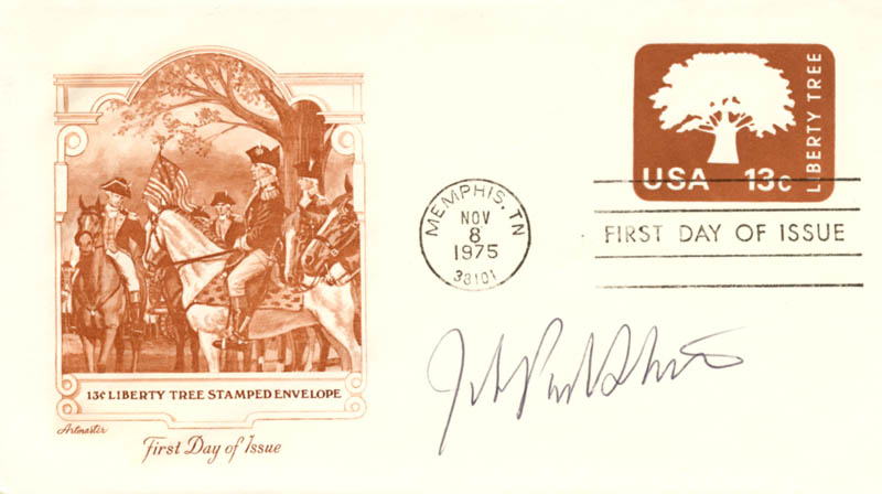 Image 1 for Associate Justice John Paul Stevens - First Day Cover Signed - HFSID 165068