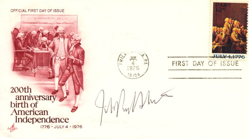 Image 1 for Associate Justice John Paul Stevens - First Day Cover Signed - HFSID 165069