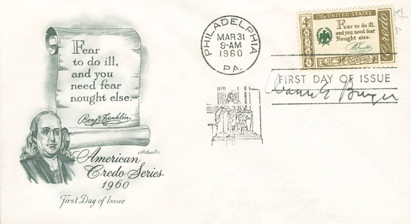 Image 1 for Chief Justice Warren E. Burger - First Day Cover Signed - HFSID 165102