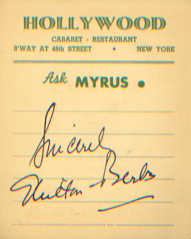 Image 1 for Milton Berle - Autograph Sentiment Signed - HFSID 165306
