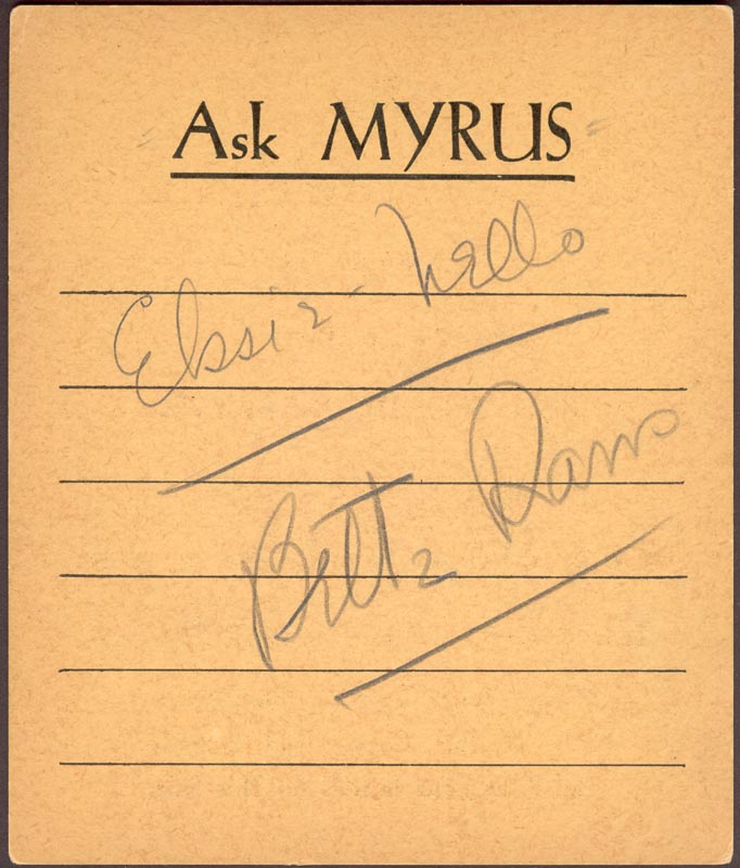 Image 1 for Bette Davis - Inscribed Signature - HFSID 165345