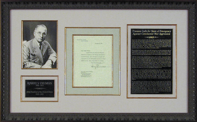 Image 1 for President Harry S Truman - Typed Letter Signed 01/02/1951 - HFSID 16536