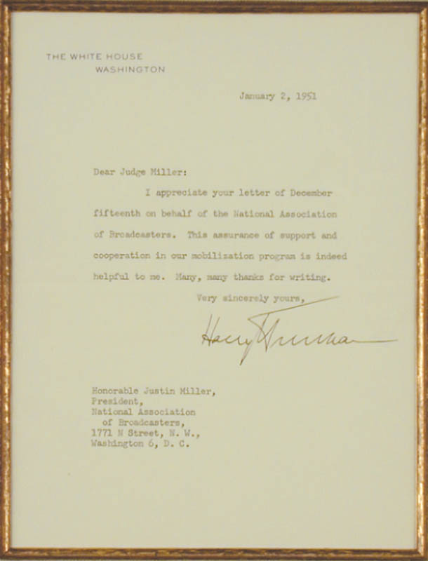 Image 3 for President Harry S Truman - Typed Letter Signed 01/02/1951 - HFSID 16536