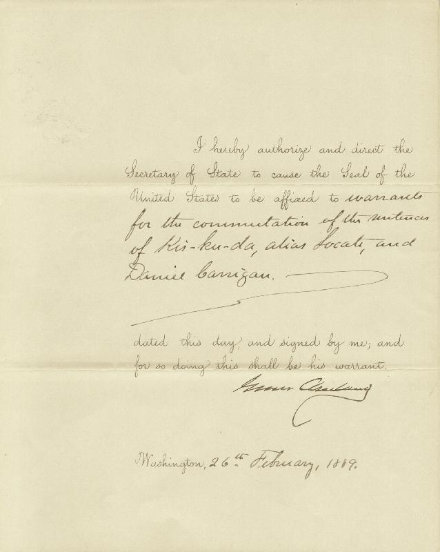 Image 1 for President Grover Cleveland - Presidential Warrant Signed 02/26/1889 - HFSID 16537