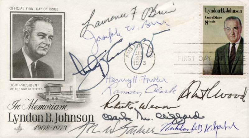 Image 1 for Lawrence 'Larry' O'Brien - First Day Cover Signed with co-signers - HFSID 165444