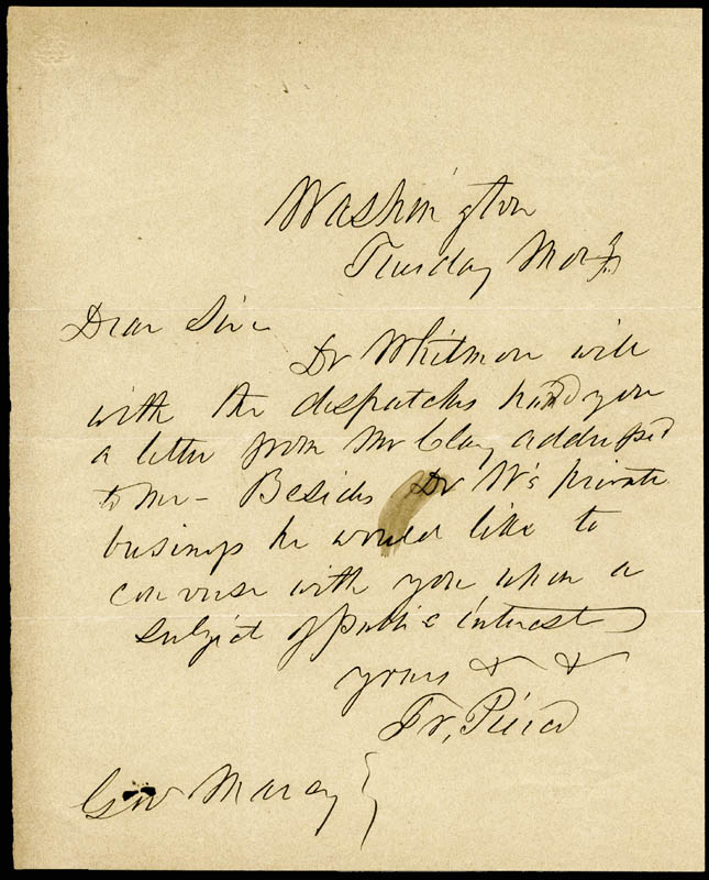 Image 1 for President Franklin Pierce - Autograph Letter Signed - HFSID 16547