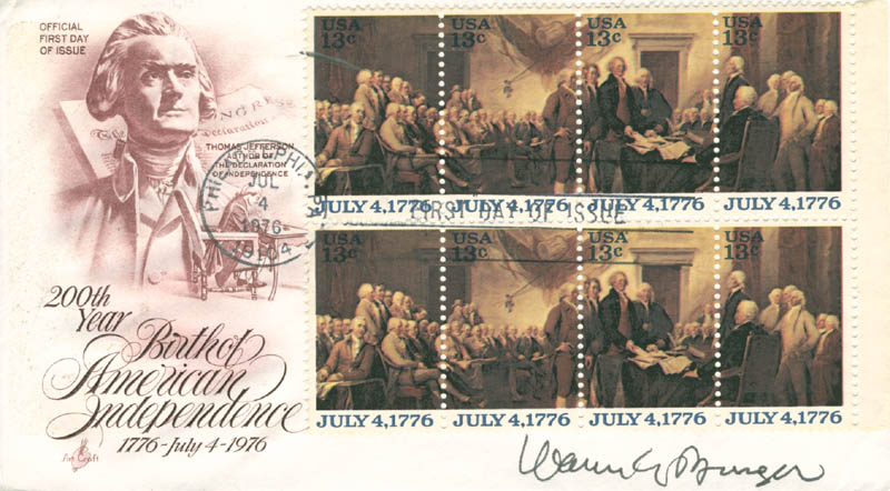 Image 1 for Chief Justice Warren E. Burger - First Day Cover Signed - HFSID 165478