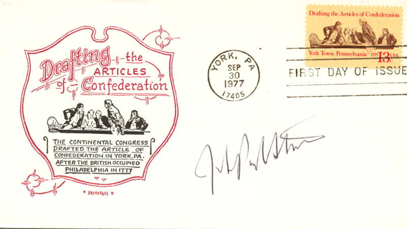 Image 1 for Associate Justice John Paul Stevens - First Day Cover Signed - HFSID 165495