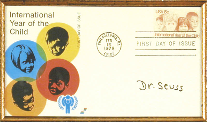 Image 3 for Theodor 'Dr. Seuss' Geisel - First Day Cover Signed - HFSID 165507