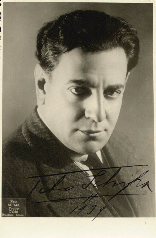Image 1 for Tito Schipa - Autographed Signed Photograph 1939 - HFSID 165528