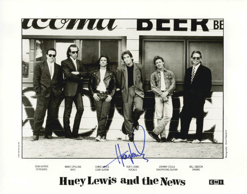 Image 1 for Huey Lewis & The News (Huey Lewis) - Autographed Signed Photograph - HFSID 165594