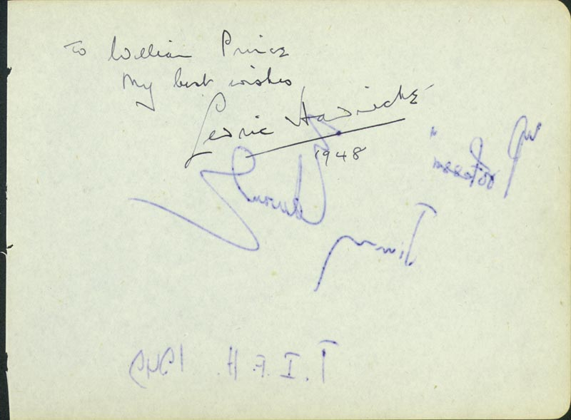 Image 1 for Sir Cedric Hardwicke - Autograph Note Signed Circa 1948 co-signed by: Jimmy Edwards - HFSID 165661