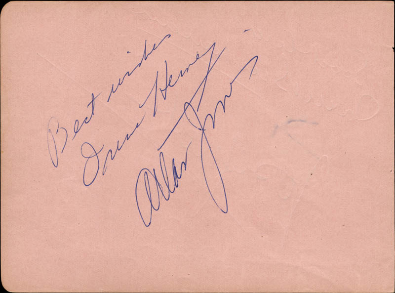 Image 1 for Allan Jones - Autograph Sentiment Signed co-signed by: Irene Hervey, Jack Buchanan - HFSID 165662