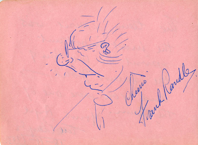Image 1 for Frank Randle - Self-caricature Signed co-signed by: Ted Player - HFSID 165664