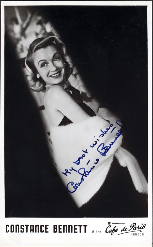 Image 1 for Constance Bennett - Autographed Signed Photograph - HFSID 165704