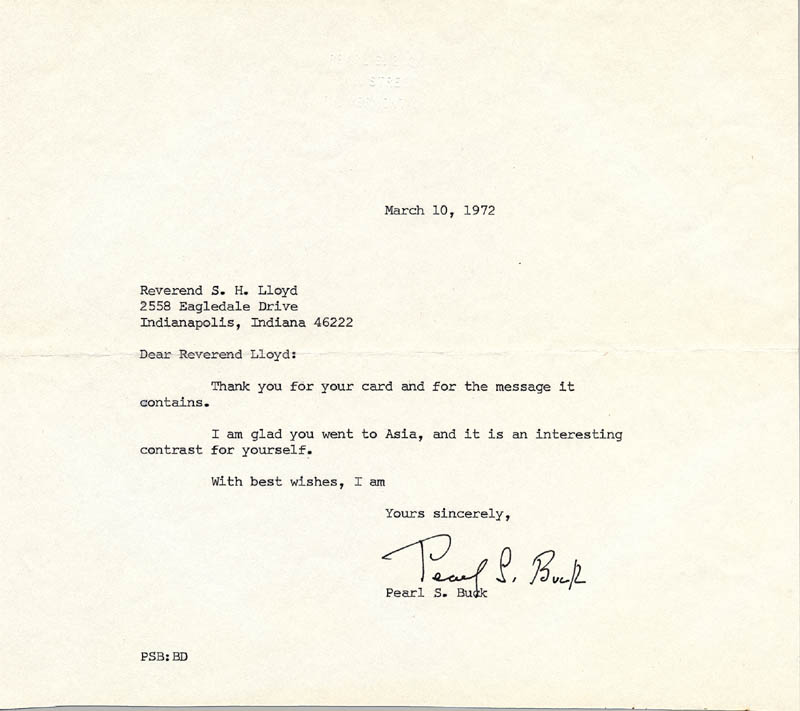 Image 1 for Pearl S. Buck - Typed Letter Signed 03/10/1972 - HFSID 165859