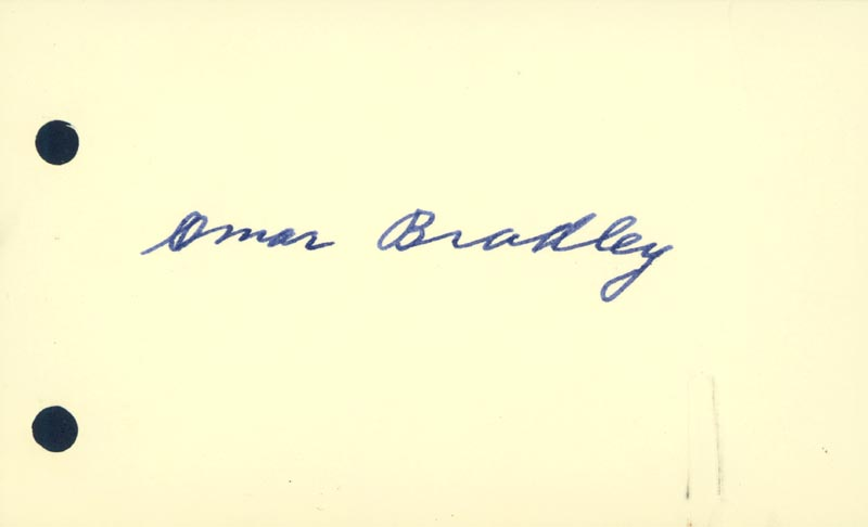 Image 1 for General Omar N. Bradley - Autograph - HFSID 165939