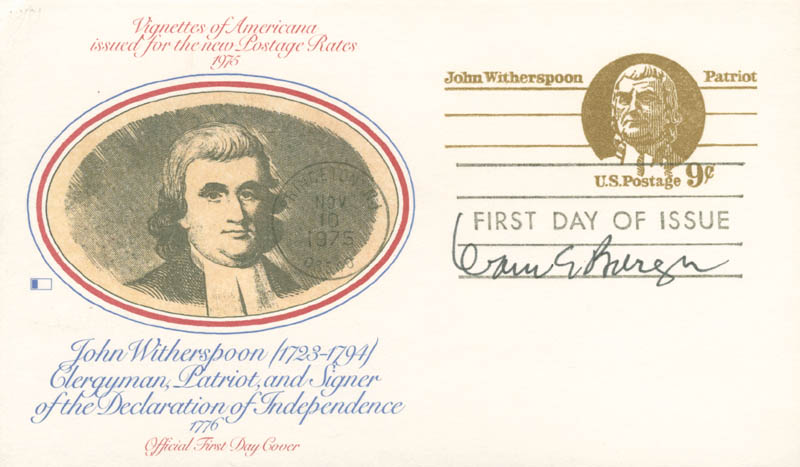 Image 1 for Chief Justice Warren E. Burger - First Day Cover Signed - HFSID 166215