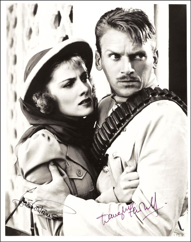 Image 1 for Gunga Din Movie Cast - Autographed Signed Photograph co-signed by: Joan Fontaine, Douglas Fairbanks Jr. - HFSID 166364
