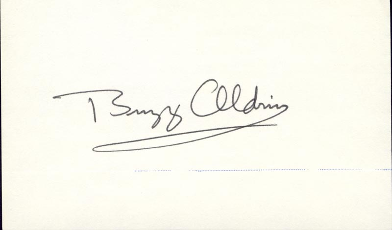 Image 1 for Colonel Buzz Aldrin - Autograph - HFSID 166412