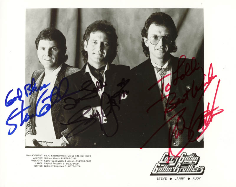 Image 1 for The Gatlin Brothers - Autographed Inscribed Photograph with co-signers - HFSID 166465