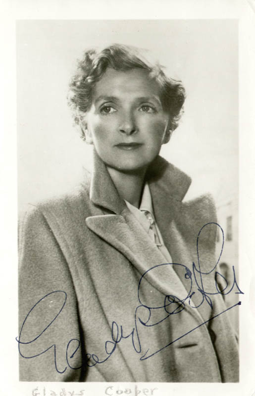 Image 1 for Gladys Cooper - Autographed Signed Photograph - HFSID 166524