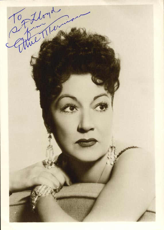 Image 1 for Ethel Merman - Autographed Inscribed Photograph - HFSID 166537