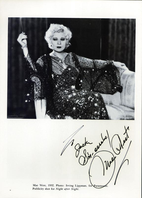 Image 1 for Mae West - Inscribed Book Photograph Signed - HFSID 166550