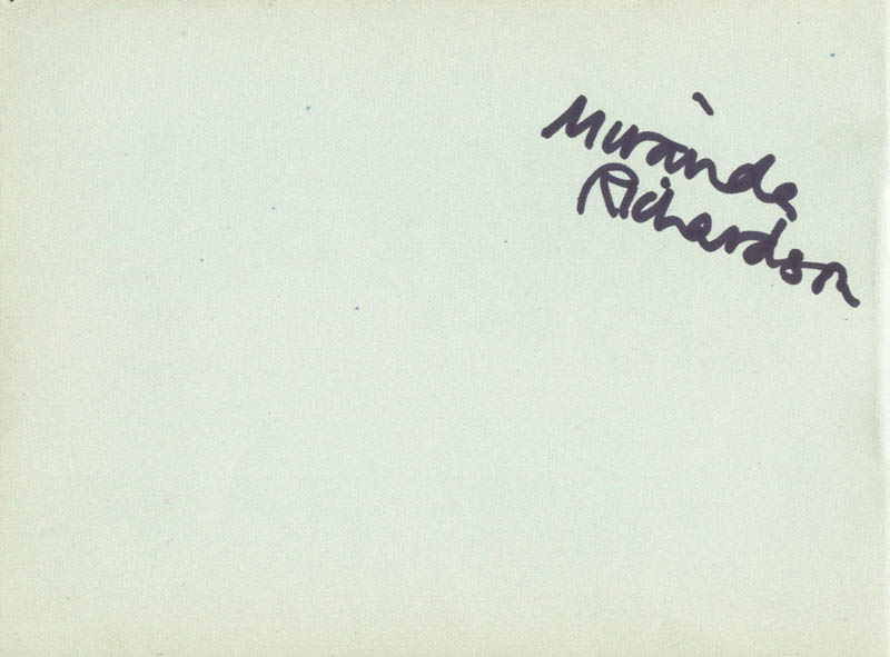 Image 1 for Miranda Richardson - Autograph co-signed by: Patricia Horn - HFSID 166637